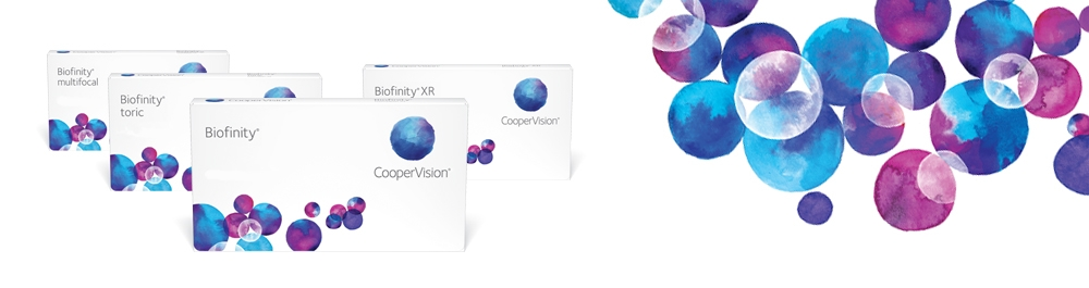 Biofinity® mėnesiniai kontaktiniai lęšiai
