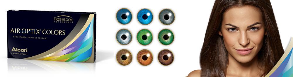 Air Optix® Colors spalvoti kontaktiniai lęšiai