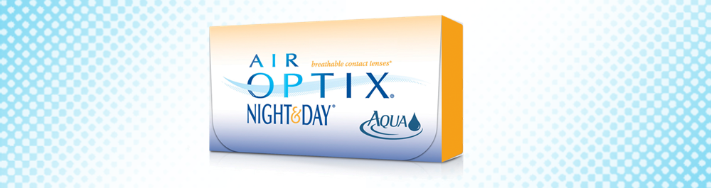 Air Optix® Night & Day® Aqua mėnesiniai kontaktiniai lęšiai
